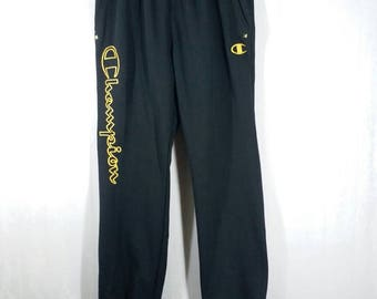 Nice! CHAMPION Pant// Embroidered GOLDEN// With Spikes// Size L// Rare design