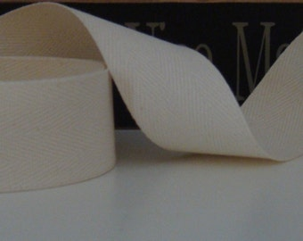 10 Yards Natural Cotton Twill Tape for Primitive Rug Hooking