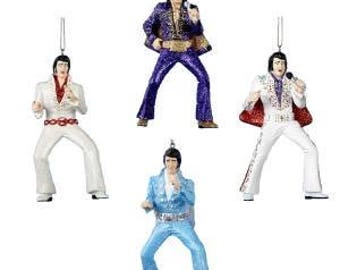 Elvis Presley Personalized Christmas Ornament- Each Sold Separatly