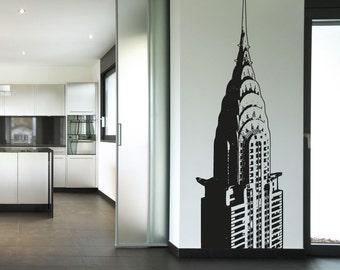 Vinyl Wall Decal Sticker Top of Chrysler Building OSAA232s