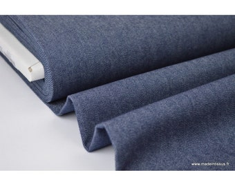 Stretch denim fabric color Navy