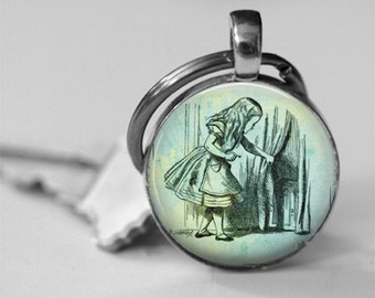 Teacher appreciation teach dictionary definition necklace or alice in wonderland behind the curtain glass dome pendant necklace or key chain lewis carroll jewelry mozeypictures Gallery