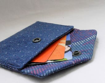 Upcycled Mini Card Holder | Coin Pouch, Wallet, Credit Card Holder, Cash Wallet, Headphones Organizer, Upcycled Material