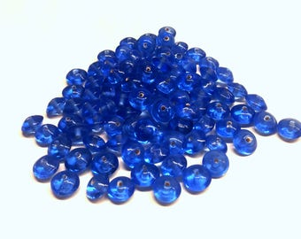 Set of 16 dark blue haematite T6