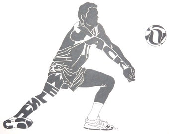 Men's Volleyball Silhouette