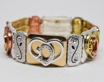 Charming multi color stretchable bracelet