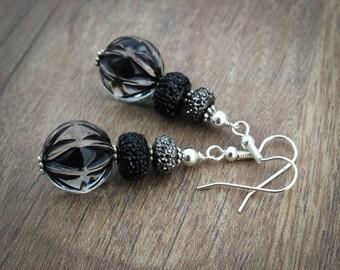 Womens Black Earrings