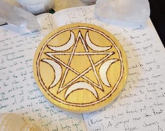 Crescent Moons Wicca Altar Pentacle