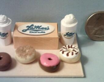 Barbie Sized LaMar Donut Shop Food Display Board