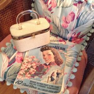 Vintage 1950s lucite handle box purse JR Miami Florida VLV superb highly collectible
