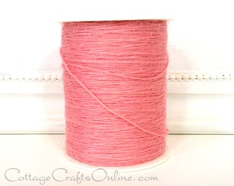 Burlap String Light Pink 400 YARDS Jute Cord - May Arts #17 - Packaging / Twine / Thread / Scrapbook Embellishment / Craft Ribbon