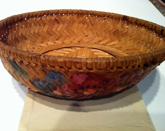 Small Painted Basket
