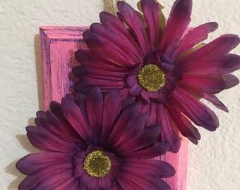 Purple Daisies Wall Art Hanging