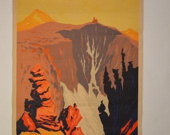 O. Van Hout, Deutschland Im Riesengbirge (Giant Mountains), 1929 Germany Travel Poster