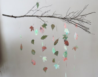Leaf Mobile - Nursery Mobile, Home Decor, Baby Mobile, Branch Mobile, Woodland Nursery, Hanging Mobile, Gifts For Her, Mothers Day Gift