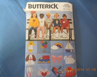 Butterick pattern, childrens playwear, number 6972