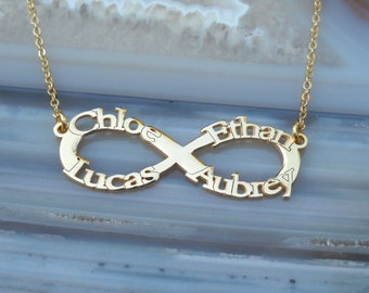 Infinity Name Necklace - Personalized Name Necklace - Custom Name Necklace - Nameplate Necklace - Personalized Name Jewelry