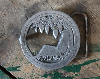 Vintage Indiana Metal Craft Belt Buckle | Hippy Stuff