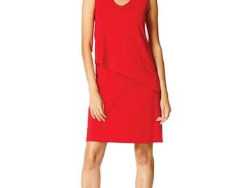 Layered effect sleeveless short dress