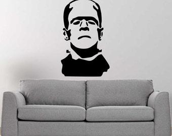 Frankenstein's monster vinyl wall decal