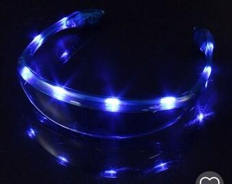 Blue LED Light Up Rave Glasses