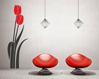 Tulips wall decal  for wall decor