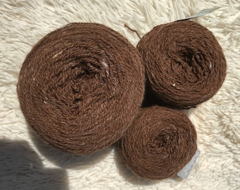Alpaca/wool homespun yarn