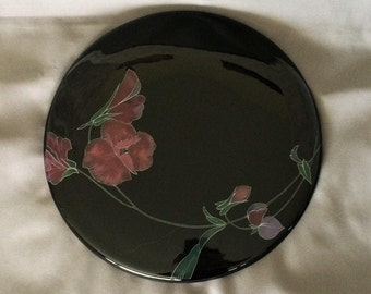 Mikasa Serving Plate - Tango FX004 - Black Plate - Cheese Board - Dessert Plate - Cake Plate - Cookie Plate