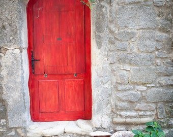 "Saignon, France ""porte rouge"" - Fine art photography, travel photography, home decor"