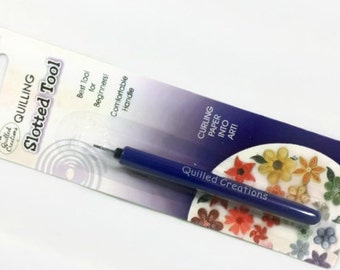 Quilling Tool Slotted Quilling Tool - paper quilling tool, paper quilling supplies, paper bead roller, tool for quilling, quilled creations