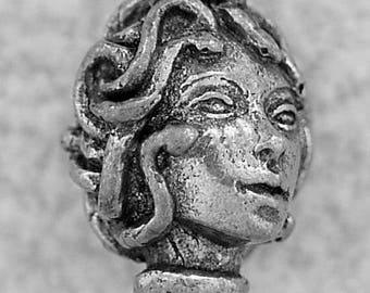 Green Girl Studios Pewter Medusa Head Bead