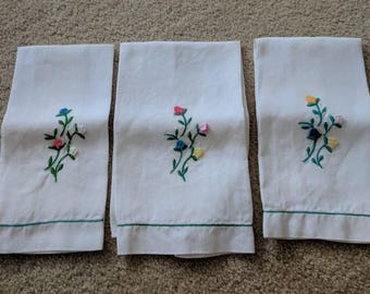 Set of Three Vintage Linens