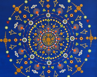 """Moroccan"" Mandala painting"