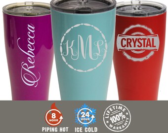 Double Wall Tumbler, SIC Cup, SIC Tumbler, Personalized 30 oz Powder Coated Tumbler, Insulated Tumbler, Stainless Steel Tumbler