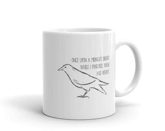 Edgar Allan Poe Poem The Raven First Line Mug