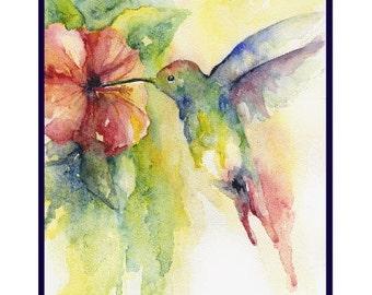 Watercolor Hummingbird Note Cards Hummingbird Prints Hummingbirds Gift Box Set, Stocking Stuffers