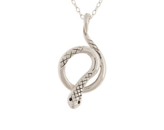 Silver Snake Charmer - Kundalini Pendant - Coiled Serpent Necklace- Unisex