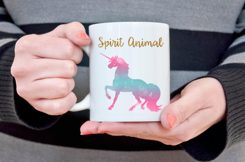 Unicorn Mug Unicorn Spirit Animal Christmas Gift for Her Gift