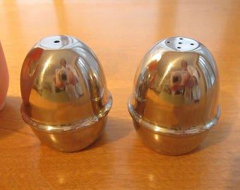 Mid Century Modern Eames Era WMF Cromargon Salt & Pepper Set Stainless Steel Craftmanship Excellent