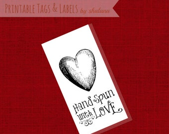 PDF Printable Product Labels or Hang Tags for Hand Spun Yarns