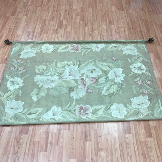 "3'9"" x 5'8"" Chinese Tapestry - 1950s - Hand Made - 100% Wool"
