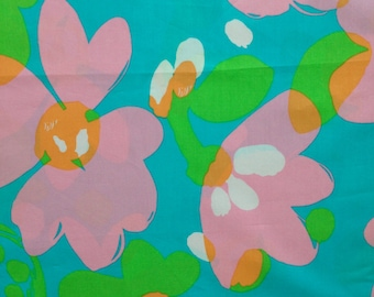 "shorely blue mojo poplin cotton fabric square 17""x17"" ~ lilly pulitzer"