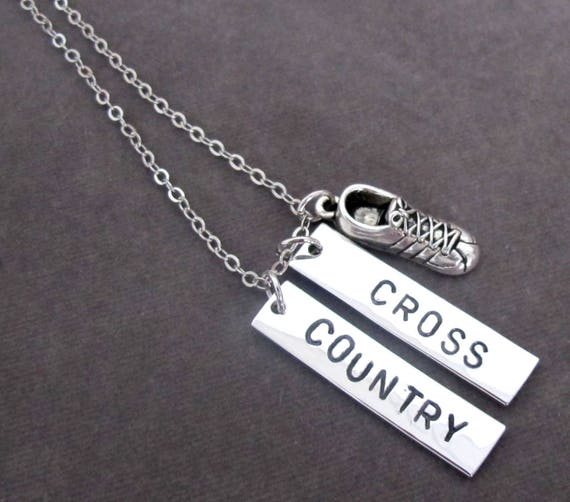 Cross Country Running Necklace,Track Cross Country Necklace,Runner,High School Running,Marathon,State Championships, Free Shipping USA