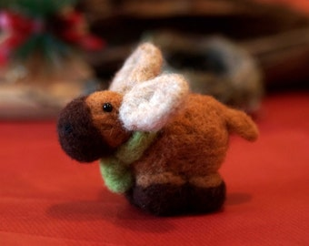 Needle felted Moose  - Christmas