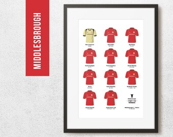 MIDDLESBROUGH Print, 2004 League Cup Winners, Football Poster, Football Gift, FREE UK Delivery