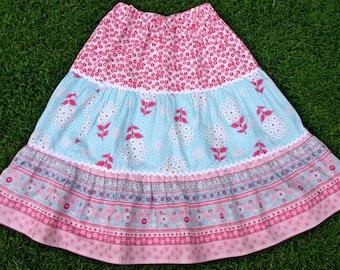 Twirl skirt pattern, Girls sewing pattern, size 1 to 10, PDF sewing pattern, Toddler pattern - 3 Tier Twirly Skirt pattern (S105)