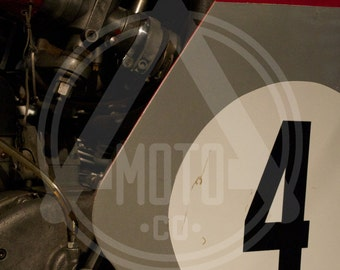 Motorcycle Photo - Vintage MV Agusta Race Bike