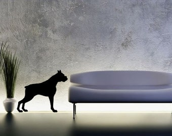 LIFESIZE Boxer Dog Silhouette Wall Decal - Choose your Size & Color