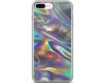 silver holographic print iPhone 7/7 Plus Case
