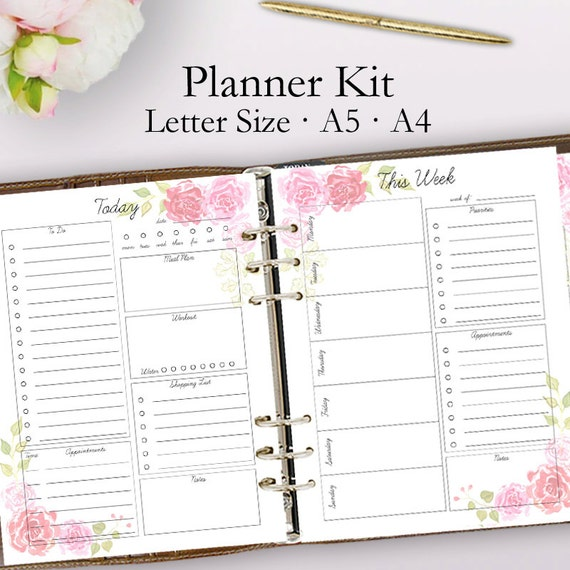 Dashing image within planner printable